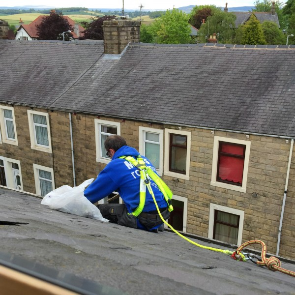 Gutter clearing on roofs in Barnoldswick